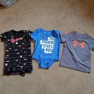 BABY BOY  3 LOT NIKE & UNDER ARMOUR  SIZE  6-12 M